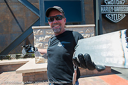 Harley-Davidson's Bill Davidson at the official chain torching ceremony for the brand new Harley-Davidson Rally Point on the corner of Main Street and Harley Way during the 75th Annual Sturgis Black Hills Motorcycle Rally.  SD, USA.  July 31, 2015.  Photography ©2015 Michael Lichter.