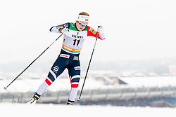 February 9, 2019 - Lahtis, FINLAND - 190209  Anna Svendsen of Norway competes in the women's sprint qualification during the FIS Cross-Country World Cup on February 9, 2019 in Lahti..Photo: Johanna Lundberg / BILDBYRN / 135946 (Credit Image: © Johanna Lundberg/Bildbyran via ZUMA Press)