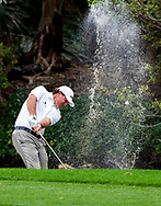 Feb 26, 2015; Palm Beach Gardens, FL, USA; Phil Mickelson plays from the water on the 6th fairway during the first round of the Honda Classic at PGA National GC Champion Course. Mandatory Credit: Peter Casey-USA TODAY Sports