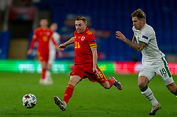 CARDIFF, WALES - Sunday, November 15, 2020: Wales' Joseff Morrell during the UEFA Nations League Group Stage League B Group 4 match between Wales and Republic of Ireland at the Cardiff City Stadium. Wales won 1-0. (Pic by David Rawcliffe/Propaganda)