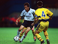 Fotball. Intertoto Cup. Semifinale. 31.07.2002.<br /> Fulham v Sochaux.<br /> Junichi Inamoto, Fulham.<br /> Foto: Andrew Cowie, Digitalsport