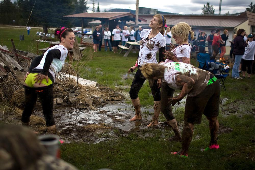 Team Goody Box at the 2011 Mud Volleyball Tournament in Laclede, ID sponsored by the Kodiak Bar. .(©Matt Mills McKnight/2011)