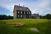 The home of Christiana Olsen and her Brother Alvaro on Hawthorn Point Road, in Cushing Maine.  The building and it's inhabitants were popularized by American painter Andrew Wyeth. The Farm is now on the National Historic Register and is open to the public through the Farnsworth Museum. July 14, 2007 (Photograph by Jim Graham)