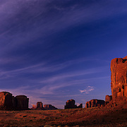 Redrock formations in Monument Valley Tribal Park on the Navajo Reservation, AZ.