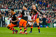 Middlesbrough forward Adama Traore (37)  with a shot  during the The FA Cup match between Middlesbrough and Sheffield Wednesday at the Riverside Stadium, Middlesbrough, England on 8 January 2017. Photo by Simon Davies.