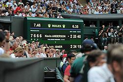 July 13, 2018 - Angleterre - Wimbledon - Kevin Anderson Afrique du sud bat John Isner en USA en 6 heures 36 minutes (Credit Image: © Panoramic via ZUMA Press)