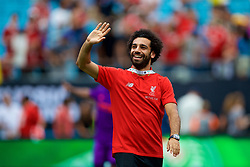 CHARLOTTE, USA - Sunday, July 22, 2018: Liverpool's Mohamed Salah after a preseason International Champions Cup match between Borussia Dortmund and Liverpool FC at the  Bank of America Stadium. (Pic by David Rawcliffe/Propaganda)