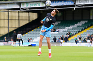 Jake Young (18) of Forest Green Rovers warming up ahead of the Pre-Season Friendly match between Yeovil Town and Forest Green Rovers at Huish Park, Yeovil, England on 31 July 2021.