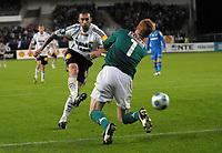 Fotball Tippeligaen Rosenborg (RBK) - Lyn 31.08.09,<br /> Rade Prica scorer til 3-1,<br /> Foto: Carl-Erik Eriksson, Digitalsport,