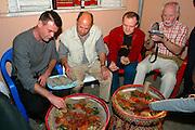 GONDAR, GONDAR/ETHIOPIA..Traditional Ethiopian dinner at a local restaurant..(Photo by Heimo Aga)