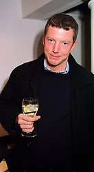 The HON.NAT ROTHSCHILD son of Lord Rothschild, at a party in London on 23rd November 1999.MZG 20