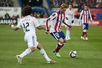 Atletico de Madrid's Fernando Torres and Real Madrid's Marcelo during 2014-15 Spanish King Cup match at Vicente Calderon stadium in Madrid, Spain. January 07, 2015. (ALTERPHOTOS/Luis Fernandez)