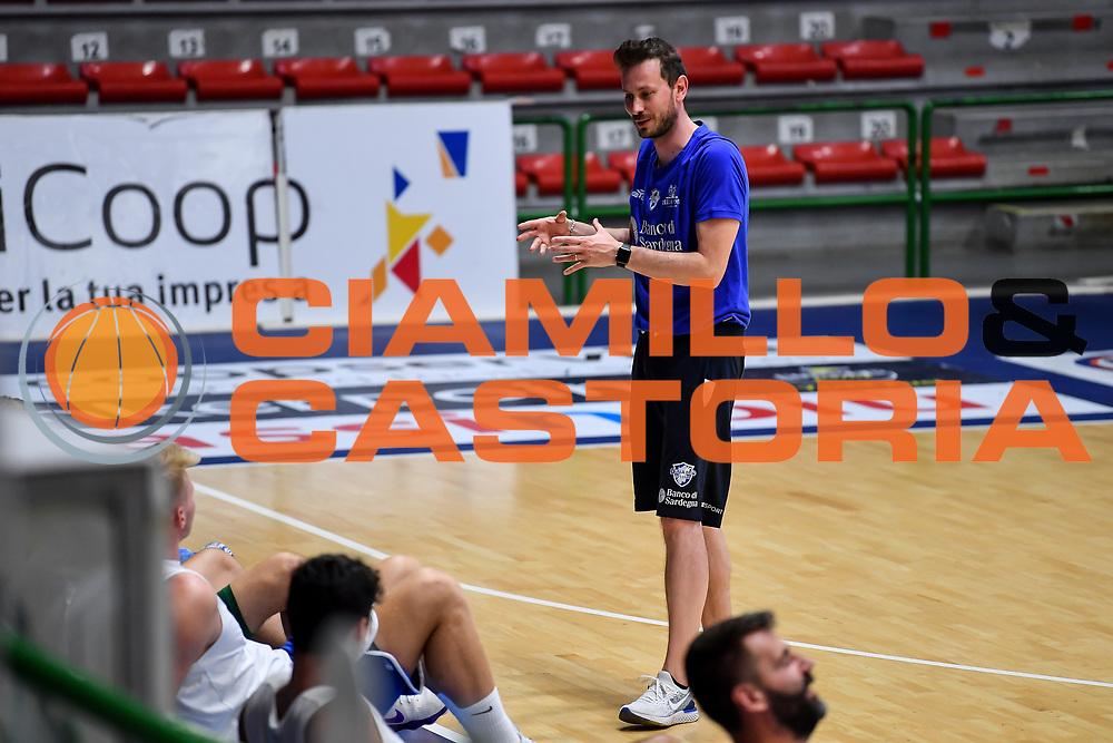Giorgio Gerosa<br /> Allenamento Banco di Sardegna Dinamo Sassari<br /> LBA Legabasket Serie A 2021-2022<br /> Sassari, 12/08/2021<br /> Foto L.Canu / Ciamillo-Castoria