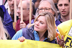 Celebrities and politicians joined the people on the 'People's Vote March' from Hyde Park Corner to Westminster. 23 Mar 2019 Pictured: Justine Greening The Peoples vote march london. Photo credit: ©stephenbutler / MEGA TheMegaAgency.com +1 888 505 6342