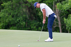 May 9, 2019 - Dallas, TX, U.S. - DALLAS, TX - MAY 09: Brooks Koepka attempts his par putt on #9 during the first round of the AT&T Byron Nelson on May 9, 2019 at Trinity Forest Golf Club in Dallas, TX. (Photo by Andrew Dieb/Icon Sportswire) (Credit Image: © Andrew Dieb/Icon SMI via ZUMA Press)