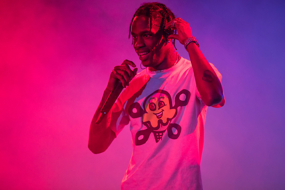 Travis Scott performs at the Something In The Water Festival in Virginia Beach, VA on April 27, 2019.