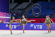 The national team of Russia during team final at the Pesaro World Championships at Virtifigo Arena, May 30, 2021.