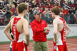 coach Spangler, Boston U<br /> BU Terrier Indoor track meet