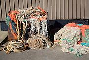 Fishing nets Oudeschild Harbour, Texel, Netherlands