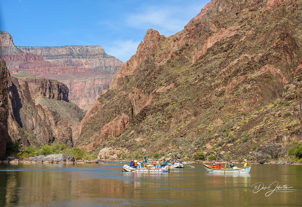 Rafting the Colorado River in the Grand Canyon above Hermit Rapids, Grand Canyon National Park, Arizona, USA