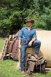 cowboy on a ranch taking a break