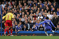 Photo: Lee Earle.<br /> Chelsea v Watford. The Barclays Premiership. 11/11/2006. Chelsea's Didier Drogba (R) scores his second goal.