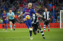 January 7, 2018 - Barcelona, Catalonia, Spain - Javier Mascherano during the La Liga match between FC Barcelona and Levante UD, in Barcelona, on January 07, 2018. (Credit Image: © Joan Valls/NurPhoto via ZUMA Press)