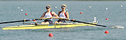 Banyoles, SPAIN, GBR W2-, Bow [R] Monica RELPH and Jacki ROUND, at the start of the Race for lanes in the Women's pair.  FISA World Cup Rd 1. Lake Banyoles  Saturday, 30/05/2009   [Mandatory Credit. Peter Spurrier/Intersport Images]