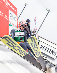 01.02.2019, Heini Klopfer Skiflugschanze, Oberstdorf, GER, FIS Weltcup Skiflug, Oberstdorf, im Bild Karl Geiger (GER) // Karl Geiger of Germany during the FIS Ski Flying World Cup at the Heini Klopfer Skiflugschanze in Oberstdorf, Germany on 2019/02/01. EXPA Pictures © 2019, PhotoCredit: EXPA/ JFK