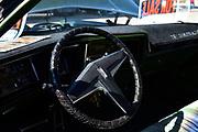 Oldsmobile Toronado steering wheel and dashboard.