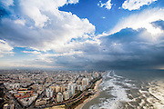 Aerial View of Bat Yam, Israel. Bat Yam is a city in the Central Coastal Plains (Gush Dan) established in 1926