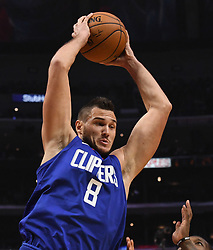 October 21, 2017 - Los Angeles, California, U.S. - Los Angeles Clippers forward Danilo Gallinari rebounds against the Phoenix Suns in the first quarter during an NBA basketball game at the Staples Center on Saturday, Oct 21, 2017 in Los Angeles. .(Photo by Keith Birmingham, Pasadena Star-News/SCNG) (Credit Image: © San Gabriel Valley Tribune via ZUMA Wire)