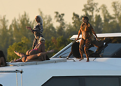 EXCLUSIVE: Rapper Cardi B. wears tiger body paint as she twerks on a yacht during a video shoot in Miami, after having missed a court date in New York. 03 Dec 2018 Pictured: Cardi B. Photo credit: MEGA TheMegaAgency.com +1 888 505 6342