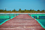 Cuba, Cayo Largo. Pier on the sandy caribbean island.