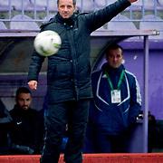 Eyupspor's coach Bahattin Demircan during their Turkey Cup matchday 3 soccer match Eyupspor between Eskisehirspor at Eyup Stadium in Istanbul Turkey on Wednesday, 11 January 2012. Photo by TURKPIX