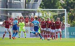 Bristol City Women prepare for free-kick from Dominique Janssen of Arsenal - Mandatory by-line: Paul Knight/JMP - 20/05/2018 - FOOTBALL - Stoke Gifford Stadium - Bristol, England - Bristol City Women v Arsenal Ladies - FA Women's Super League 1