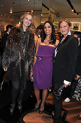 Left to right, EVA HERZIGOVA, ROSARIO DAWSON and EVA CAVALLI at a party hosted by Roberto Cavalli to celebrate his new Boutique's opening at 22 Sloane Street, London followed by a party at Battersea Power Station, London SW8 on 17th September 2011.