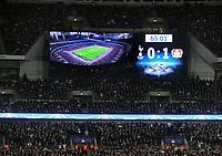 Football - 2016 / 2017 UEFA Champions League - Group E: Tottenham Hotspur vs. Bayer Leverkusen<br /> <br /> The Scoreboard shows spurs defeat at Wembley.<br /> <br /> COLORSPORT/ANDREW COWIE