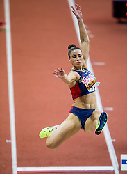 Ivana Spanovic of Serbia competes in the Long Jump Women Qualification on day two of the 2017 European Athletics Indoor Championships at the Kombank Arena on March 4, 2017 in Belgrade, Serbia. Photo by Vid Ponikvar / Sportida