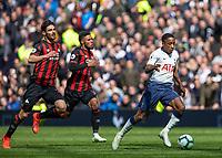 Football - 2018 / 2019 Premier League - Tottenham Hotspur vs. Huddersfield Town<br /> <br /> Kyle Walker-Peters(Tottenham FC)  breaks away from the Huddersfield defence <br /> at The Tottenham Hotspur Stadium.<br /> <br /> COLORSPORT/DANIEL BEARHAM