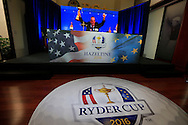 Waiting for the announcement at the PGA of America Ryder Cup captain announcement press conference from PGA National, Palm Beach Gardens, Florida.<br /> Picture: Fran Caffrey / Golffile