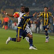 Fenerbahce's and Torku Konyaspor's during their Turkish super league soccer match Fenerbahce between Torku Konyaspor at the Sukru Saracaoglu stadium in Istanbul Turkey on Sunday 08 November 2015. Photo by Kurtulus YILMAZ/TURKPIX