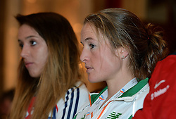 07-12-2013 ATHLETICS: SPAR EC CROSS COUNTRY: BELGRADE<br /> Press conference regarding the SPAR European Cross Country Championships held in the city of Belgrade Ceremonial Assembly Hall / Fionnuala Britton IRE<br /> ©2013-WWW.FOTOHOOGENDOORN.NL
