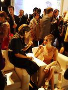 LYDIA DAVIDSON; AMY DENNIS, The launch of the Peroni Nastro Azzurro Accademia del Film Wrap Party Tour. Brick Lane. 25 August 2010. -DO NOT ARCHIVE-© Copyright Photograph by Dafydd Jones. 248 Clapham Rd. London SW9 0PZ. Tel 0207 820 0771. www.dafjones.com.