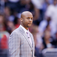 15 April 2014: Denver Nuggets head coach Brian Shaw is seen during the Los Angeles Clippers 117-105 victory over the Denver Nuggets at the Staples Center, Los Angeles, California, USA.
