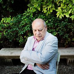 PARIS, FRANCE. JUNE 20, 2012. Author / writer Tahar Ben Jelloun in a Gallimard Edition's garden. Photo: Antoine Doyen