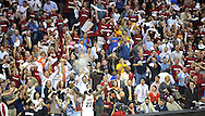 LeBron James goes through his pre-game ritual at Quicken Loans Arena.