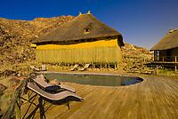 Swimming pool, Sossus Dunes Lodge near the Sossusvlei Sand Dunes (highest dunes in the world), Namib Desert, Namib-Naukluft National Park, Namibia