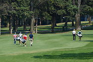 Victor Perez (FRA), Lucas Herbert (AUS), and Kurt Kitayama (USA) head down 2 during Rd4 of the World Golf Championships, Mexico, Club De Golf Chapultepec, Mexico City, Mexico. 2/23/2020.<br /> Picture: Golffile | Ken Murray<br /> <br /> <br /> All photo usage must carry mandatory copyright credit (© Golffile | Ken Murray)