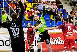 20.04.2018, BSFZ Suedstadt, Maria Enzersdorf, AUT, HLA, SG INSIGNIS Handball WESTWIEN vs Alpla HC Hard, Bonus-Runde, 8. Runde, im Bild Julian Schiffleitner (SG INSIGNIS Handball WESTWIEN) // during Handball League Austria, Bonus-Runde, 8 th round match between SG INSIGNIS Handball WESTWIEN and Alpla HC Hard at the BSFZ Suedstadt, Maria Enzersdorf, Austria on 2018/04/20, EXPA Pictures © 2018, PhotoCredit: EXPA/ Sebastian Pucher